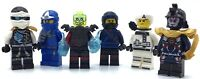 LEGO LOT OF 6 NINJAGO MINIFIGURES COLE ZANE JAY FIGURES & OTHERS