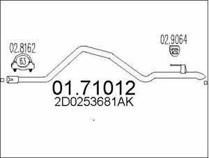 Volkswagen LT 2.5 2.8 28-46 28-35 TDI SDI 1996-2006 echappement silencieux //095
