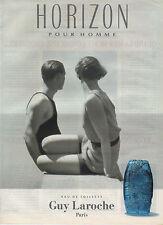 Publicité Advertising  //   HORIZON  pour homme  eau de toilette  GUY LAROCHE