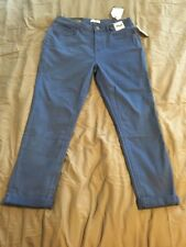 Kensie Jeans Blue Pants 10 Rolled Skinny High Rise 30 $68 NWT