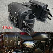 Motorcycle Pannier Saddlebag Luggage Saddle Bags w/Rain Cover Large Capacity Set
