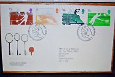 January 1977; First Day Cover; Racket Sports; Great Postmark
