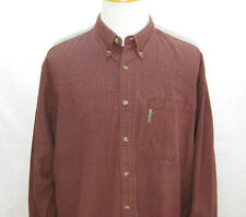 COLUMBIA Mens Burgundy Red Checks Long Sleeve Button Down Front Shirt (Size XL)