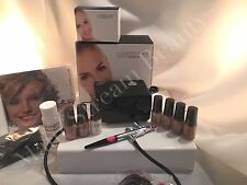 Luminess Air Airbrush One Speed Black System & Pink No Drip Stylus Silk 7pc Fair