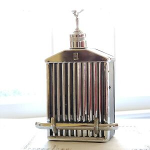 """Vintage Rolls Royce Decanter / Music Box plays """"How Dry I Am"""" / 1960's / WORKS"""