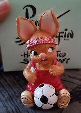 Pendelfin Rabbit Collectors Figurine - Wannabe With Red Football Shirt # G137