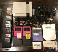 Original Nintendo NES Lot: Console Controller Game Bundle Set Authentic UNTESTED