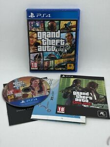 Grand Theft Auto V - Sony PS4 Playstation 4 - WITH MAP - FREE 1ST C DELIVERY!