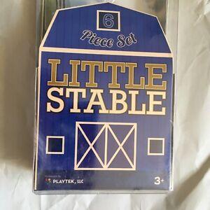 "Little Stable Horses 6 Piece Plastic Figure Play Set Playtek NWT 6"""