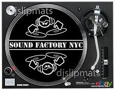 "Pair (2) SOUND FACTORY NYC 12"" or 7"" Pro DJ SLIPMATS Vasquez Knuckles Vega house"
