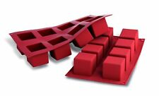 Silikomart Silicone Mould No.8 Cubes Large Terracotta