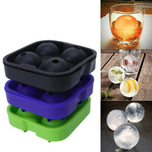 Round Ice Ball Cube Maker Module Tray Mold Silicone for Whiskey Beer Cocktails