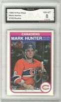 1982-83 O-Pee-Chee #185 Mark Hunter RC | Graded NM/MT