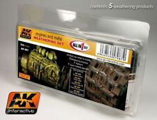 AK WEATHERING ENGINES AND METAL WEATHERING SET AK-087