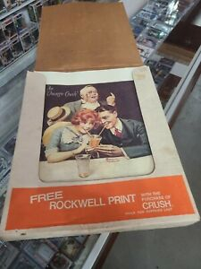 """Norman Rockwell """"An Orange Crush"""" AD PRINT IN BOX WITH OVER 90 OF THEM 11"""" x 14"""""""