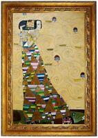 Ölbild die Erwartung Ölgemälde Gustav Klimt HANDGEMALT Gemälde F:60x90cm