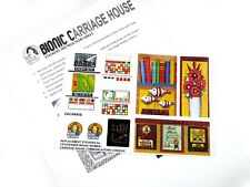 SMDM BIONIC WOMAN REPLACEMENT STICKERS-1978 CARRIAGE HOUSE COMMUNICATION CONSOLE