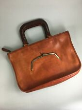 Vintage COACH leather Bonnie Cashin Watermelon Satchel Early to Mid 60s Kisslock