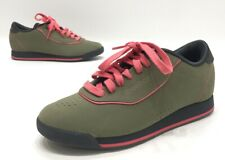 Reebok Classic Alicia Keys Olive Green/Pink Suede Low Princess Sneakers Size 6.5