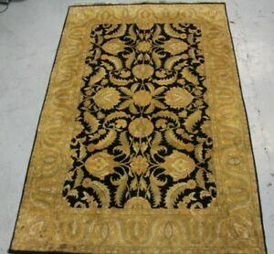 old Handmade Indian Ziegler Design Wool Carpet 287cm x 186cm