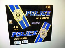 Southport Indiana Police  Patrol Car Decals 1:24