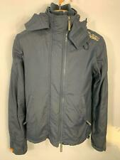 MENS SUPERDRY BLUE MULTI ZIP THE WIND CHEATER CASUAL WINTER RAIN COAT SIZE SMALL