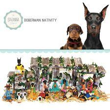 Savannashops Dog Nativity Doberman Gifts - Nativity Sets - Doberman Pinscher