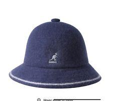 Kangol Navy Stripe Casual Wool Bermuda Bucket   Cap Hat NWT Medium M