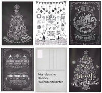 Nostalgisches Weihnachtskarten-Set NOSTALGIE III - Kreide-Postkarten Weihnachten
