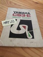 Yamaha 195 CS3-E CS3E revue technique moto workshop service Manuel atelier