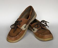 Women's Thom McAn Brown Leather Shellfish Boat Shoes Sz. 10