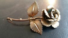 Vintage costume jewellery brooch Deco Rose
