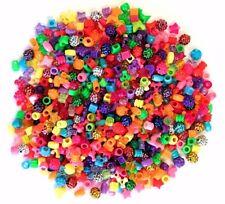 Beautiful Beads Plastic Assorted Colours Barrel Mixed Craft Hair Braiding 1200