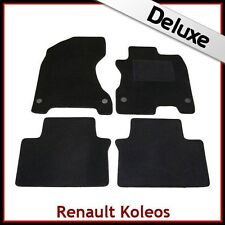 Renault Koleos Mk1 2007-2015 Tailored LUXURY 1300g Carpet Car Floor Mats BLACK