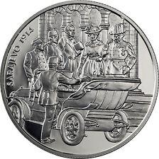 Polierte Platte österreichische Münzen vor Euro-Einführung aus Silber