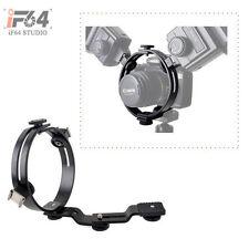 2 in 1 O-Shape or C-Shape Twin Flash Bracket for Macro Camera Canon Nikon Pentax