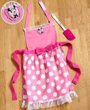 Kids Minnie Mouse Apron & Spatula Set Licensed Disney Girls Kitchen Clothing