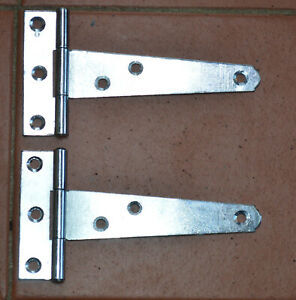 """100 mm 4"""" Zinc Plated Tee Hinge for Small Shed's, Rabbit Hutches etc  (121A-4"""")"""