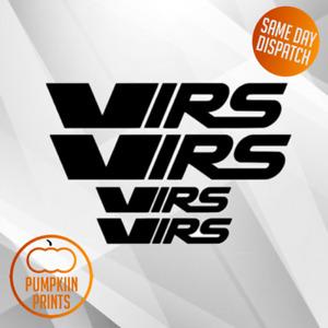 X4 2 Sizes VRS SKODA Sticker DECAL- WINDOW BUMPER OCTAVIA FABIA SPOILER
