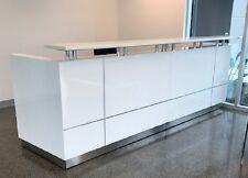 Hugo Plus Reception Counter Reception Desk Salon Gloss White Office Furniture