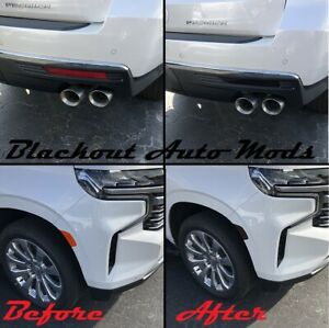 2021 Chevrolet Suburban Front Rear Reflector Blackout Kit Smoked Vinyl Overlay