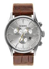 Nixon Sentry Chrono Leather Saddle Herren Uhr A405 1888