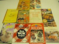 Lot of 10 Vintage  Cookbooks Woman's Day Seafood Southern Living Wok Chocolate