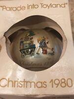 "Vintage 1980 Christmas Ornament ""Parade Into Toyland"" 7th Schmid Berta Hummel S8"
