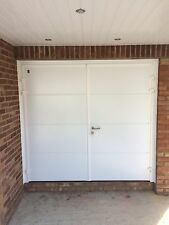 Designer Insulated Side Hinged Garage Door Steel Side Hung Opening 40mm Thick