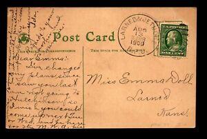 1909 Larned & Jetmore RPO Card - L19172