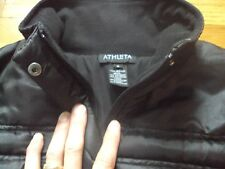 ATHLETA SPORT BLACK RIBBED QUILTED PUFFER JACKET COAT SIZE M FALL WINTER CUTE!
