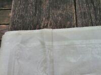 8 Vintage Heavy Ivory Damask Linen Napkins 16 Inch Made In Czechoslovakia