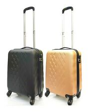 "Hard Shell 4 Wheel Spinner 21"" Carry On Cabin Hand Luggage Trolley Suitcase Bag"