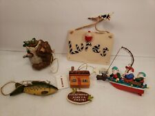 Fishing Themed Christmas Tree Ornaments Holiday Seasonal Sportsman Outdoors Lot